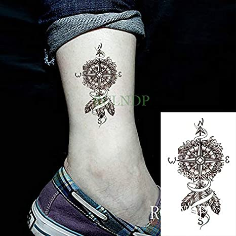 5pcs Impermeable Etiqueta engomada del Tatuaje del Bulbo Montaña ...