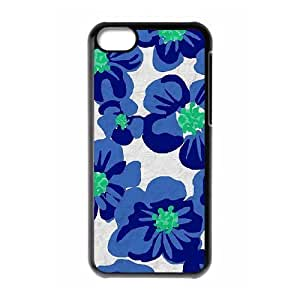 Blue Flowers Brand New Cover Case for Iphone 5C,diy case cover ygtg612491