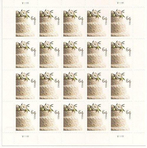 Wedding Cake Sheet of 20 64 Cent Stamps Scott 4521