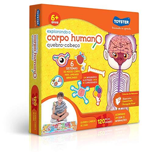 Grandão 120 Peças Explorando o Corpo Humano Toyster Brinquedos