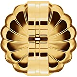 18K Solid Yellow Gold Jumbo Extra Large 9.4mm Friction Butterfly Push Back for Stud Earring Post (1 Piece)