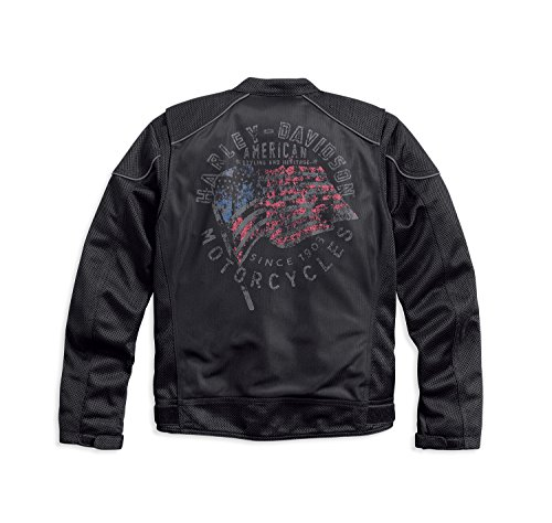 Harley-Davidson Mens Exodus Americana Winged #1 Reflective Jacket 97209-17VM ()