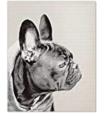 French BullDog Print, Dog Print, Nursery Art, French Bull Dog, Dog Photography, Dog Art Print, Nursery Art, Puppy Print, Animal Wall Print, Black and White Photography, Kid Gift, 8x10, 11x14