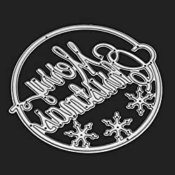 FORUU Die Cut, Metal Cutting Dies Stencils Scrapbooking Embossing Mould Templates Handicrafts DIY Card Making Paper Cards Best Gift Merry Christmas Crafts K