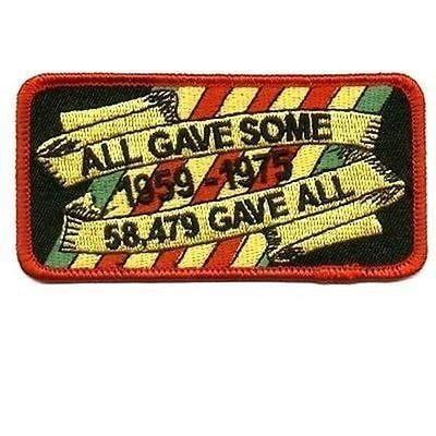 ALL GAVE SOME 58479 GAVE ALL VET MILITARY Biker POW Motorcycle MC Patch PAT-0052 by heygidday