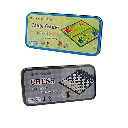 (Ludo & Chess Pocket Games For Your Travels To Relieve Boredom - Pack of 2 SC935)