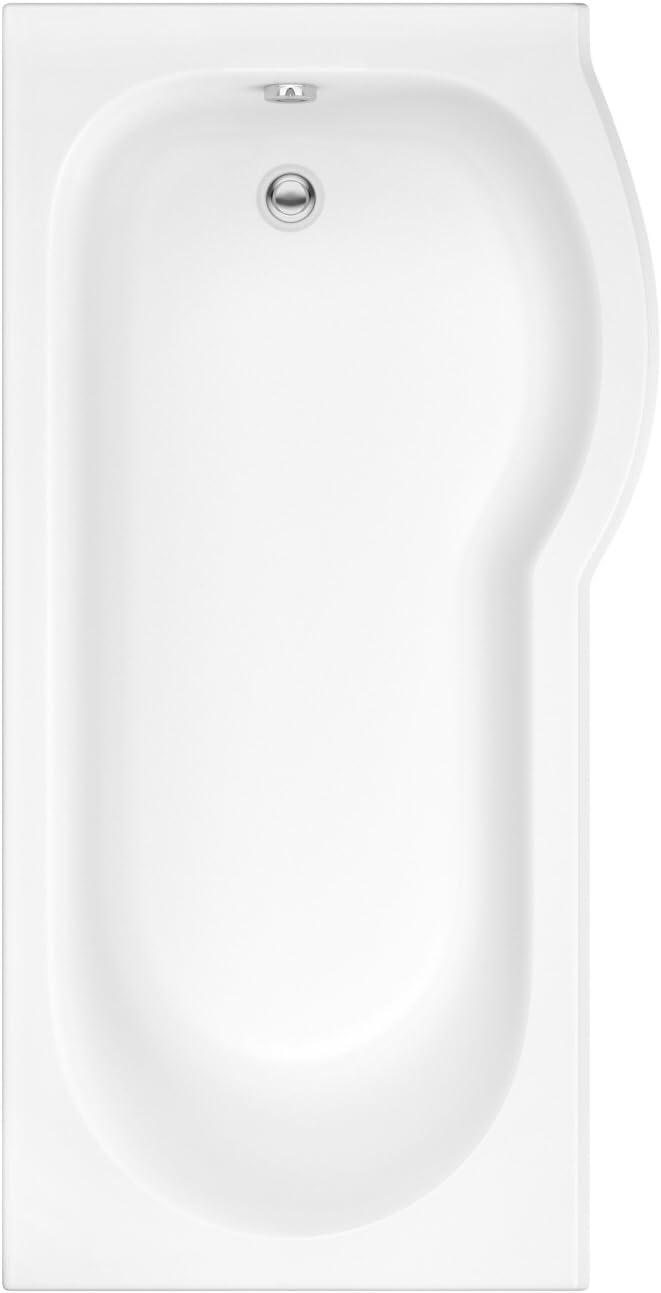 Hudson Reed – Conjunto bañera asimétrica ángulo Derecho 167.5 X 85 cm y mampara de baño Curvado – Portland: Amazon.es: Hogar
