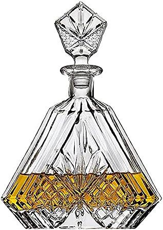TTIK Botella Whisky Cristal Vidrio para Licores Licorera Decantador, 650ML Chupitos Ideal Botellas Regalo Vacia Decoracion