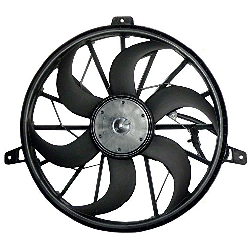 Radiator Cooling Fan with 3 Pin Connector Replacement for Jeep Grand Cherokee 4.0L SUV 52079528AD