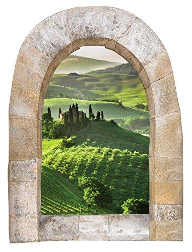The Paragon Window Wall Decal - Tuscan Window Sticker Home Decor