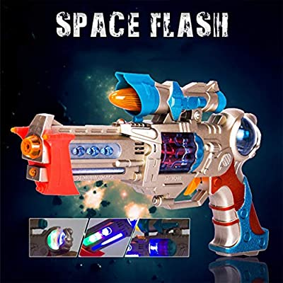 Liberty Imports Galactic Space Police Gun Toy for Kids with Spinning Lights & Blaster Sounds: Toys & Games