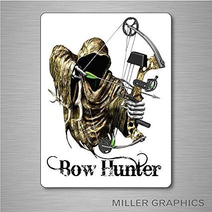Grim Reaper Bow Arrow Hunter Deer Skull Car Truck Window Vinyl Decal Sticker