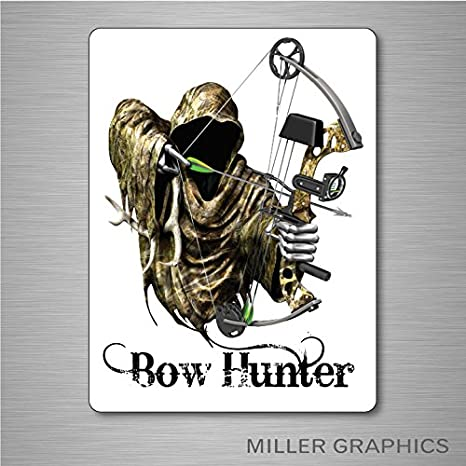 77c5e3663ce9b Amazon.com: Bow Hunter Grim Reaper (White) Decal Sticker Graphic Car Truck  Window (Large) - 7