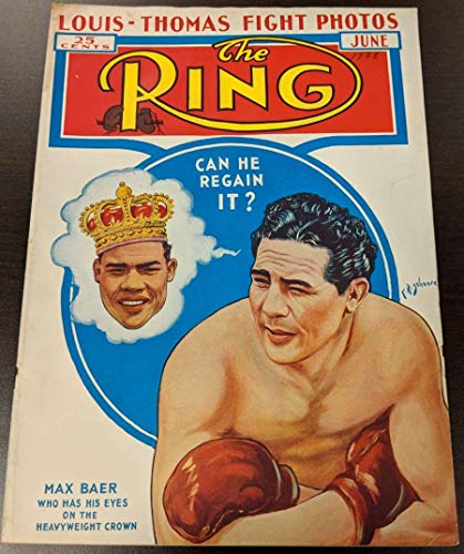 1938 The Ring Boxing Magazine April Max Baer Joe Louis G/VG 51184