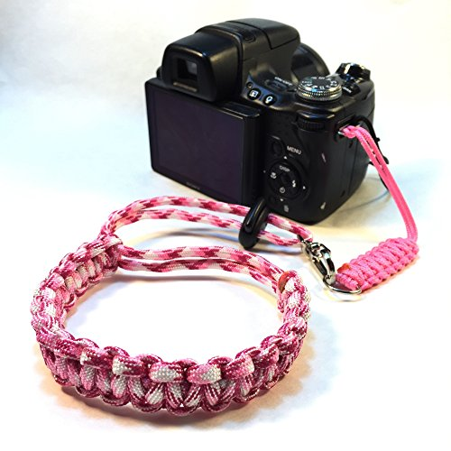 Breast Cancer Awareness Paracord 2 Piece DSLR Camera Camcorder Wrist Safety Strap - Keep Your Electronics Safe