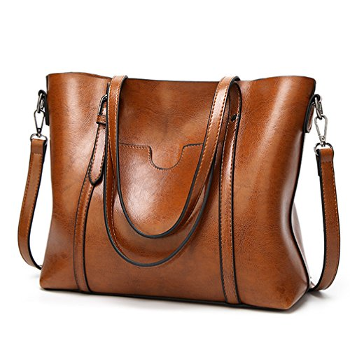 Leather Satchel Bag Purse - 7