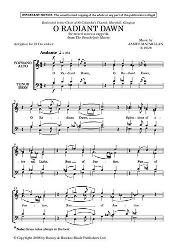 (O Radiant Dawn - Mixed Choir a cappella [SATB] - PART )