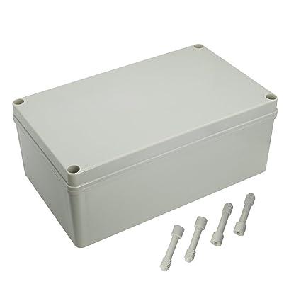 """LeMotech Waterproof Dustproof IP67 Junction Box DIY Case Enclosure Gray 9.8"""" x 5.9"""" x"""