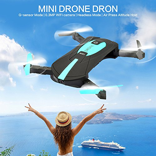 Drone Plegable Selfie Cuatro ejes aviones RC Quadcopter helicóptero juguetes con 720P HD cámara y 2.4G Wifi