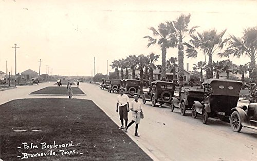 (Palm Boulevard Brownsville, Texas postcard )