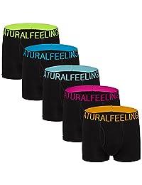 Mens Underwear Cotton Wide Band Mens Boxer Brief Underwear for Men Pack of 5 S M L XL XXL