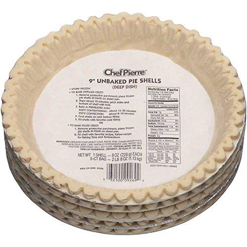 Sara Lee Chef Pierre Unbaked Lard Shortening Pie Shell, 9 inch -- 20 per case.