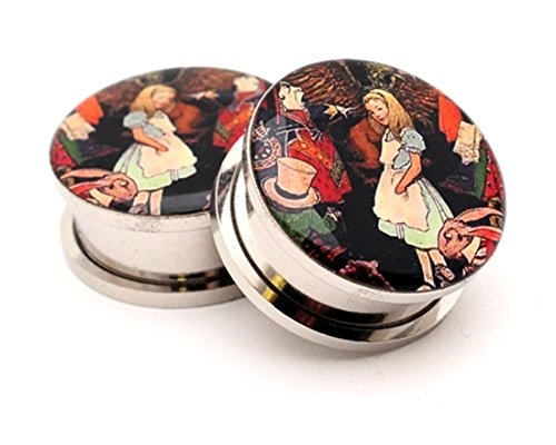 00g alice in wonderland plugs - 2
