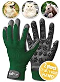 DrillTop - Pet Grooming Gloves Set-of-2 for Dogs, Cats, Pets - Fast