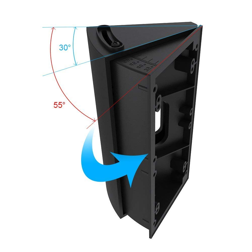 KIMILAR Adjustable 30 to 55 Degree Angle Mount for Ring Video Doorbell 2 Ring