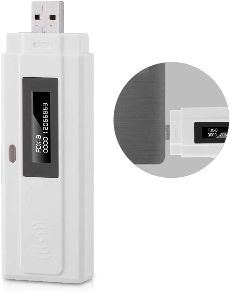 Escáner RFID para mascotas, lector de identificación de chip animal recargable Bewinner con pantalla OLED de alto brillo, compatible con lector de microchip de bolsillo EMID FDX-B (ISO11784 / 85)