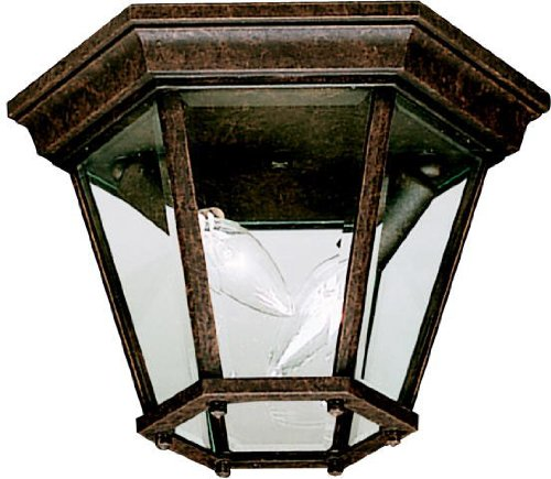(Kichler 9850TZ, Madison Cast Aluminum Outdoor Ceiling Lighting, 120 Total Watts, Tannery)