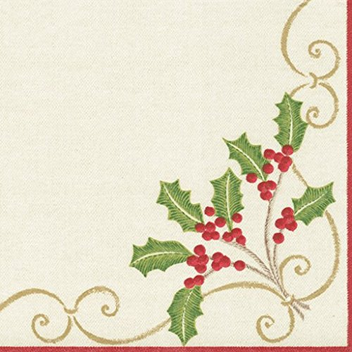 entertaining-with-caspari-christmas-embroidery-paper-linen-cocktail-napkins-green-pack-of-15