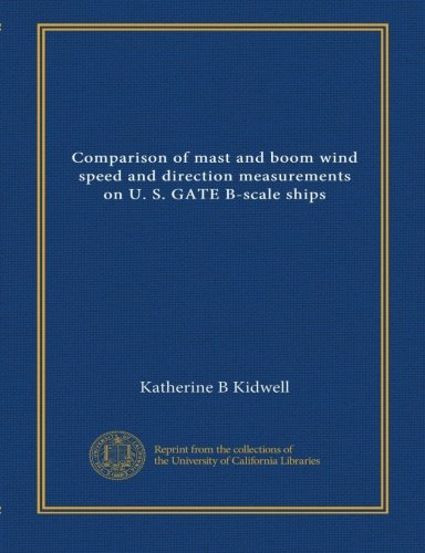 Comparison of mast and boom wind speed and direction measurements on U. S. GATE B-scale ships
