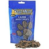 Cheap THE REAL MEAT COMPANY 828010 Dog Jerky Lamb Treat, 12-Ounce pack of 2