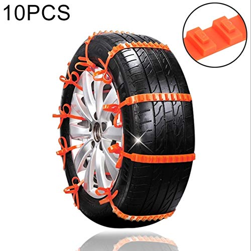 WeiYQ Anti Slip Snow Chains for SUV Car SUV Truck. Tire Chain Anti-Skid Super Cable Passenger Cars Universal Size Fit All Your Family Automobiles Rim (10pcs)