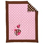 Bacati-Ladybugs-10-Piece-Crib-Bedding-Set-with-2-Crib-Fitted-Sheets-PinkChocolate