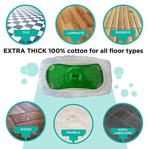 Vanduck Reusable 100 Cotton Mop Refills Compatible With