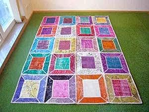Alfombra en patchwork multi 157 170x234 cm hogar - Alfombras dormitorio amazon ...