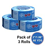 "GripBlue ™ 2'' (1.88""/48mm) X 60 YDs Multi-Use Blue Painters Tape 