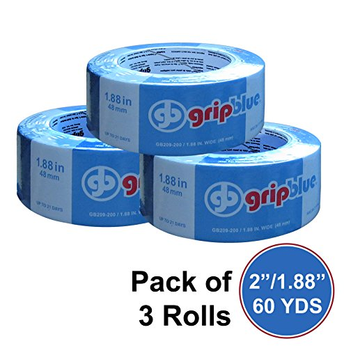 "GripBlue ™ 2"" (1.88""/48mm) X 60 YDs Multi-Use Blue Painters Tape 