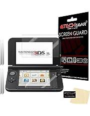 TECHGEAR [2-pack] skärmskydd för Nintendo 3DS XL Top & Bottom - Genomskinligt skärmskydd kompatibelt med NINTENDO 3DS XL - ALSO för New 3DS XL 2014