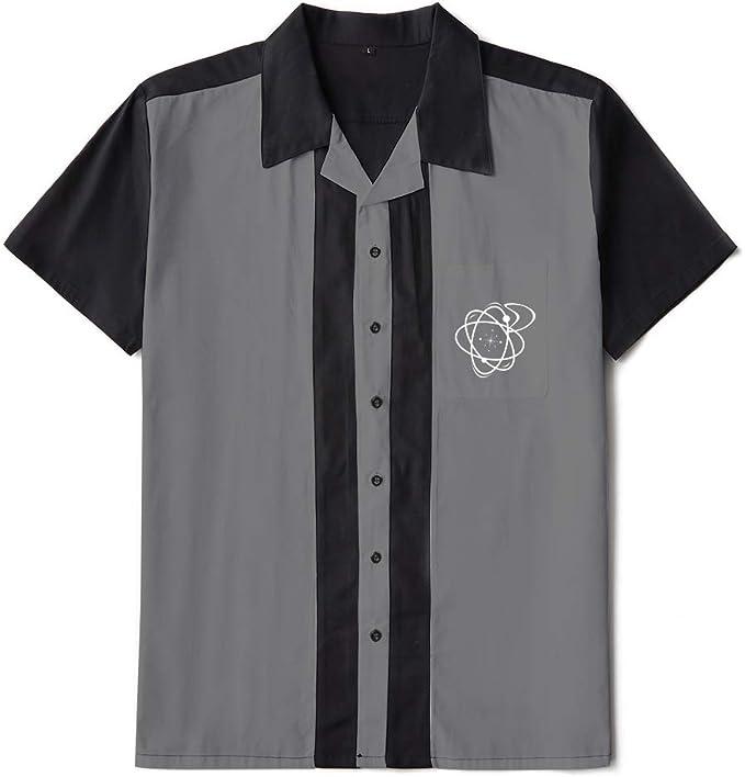 Candow Look Bolos para Hombre Worker Camisa Rockabilly Two-Tone Fifties Vintage Retro Double Panel Embroidered Shirts: Amazon.es: Ropa y accesorios