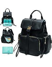 Diaper Bag Backpack Mominside Leather Backpack for Women Baby Bag for Wet Cloth