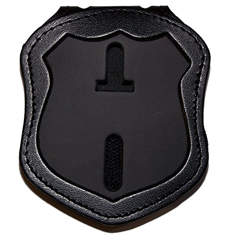 (Perfect Fit Belt Clip Badge Holder with Pocket and Chain for NY City Patrol Officer (Cutout PF145))