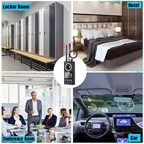 Hidden Camera Detector & Anti Spy Detector, RF Detector, Bug Detector Listening Device Finder, Higher Sensitivity GPS Tracker Detector(Five Detection Modes)