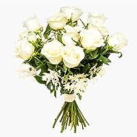 Ramos de rosas blancas naturales a domicilio Florencia - Flores frescas - Envío a domicilio 24h GRATIS - Tarjeta…