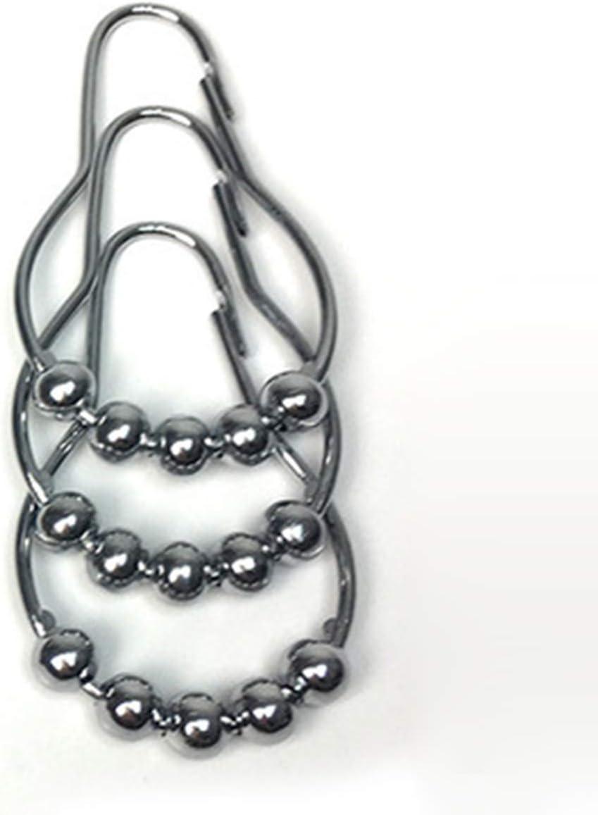 anillos para cortina de ducha acero inoxidable Ganchos para cortina de ducha DaMohony 12 unidades