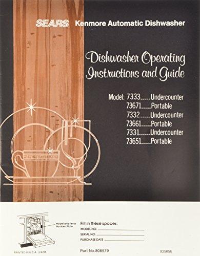 Frigidaire Owners Manuals - Frigidaire 5300808579 Dishwasher Owner Manual
