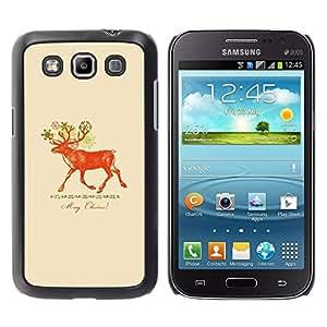 Paccase / SLIM PC / Aliminium Casa Carcasa Funda Case Cover para - Christmas Deer Red Peach - Samsung Galaxy Win I8550 I8552 Grand Quattro