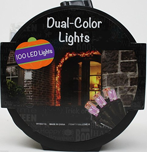 100 Led Lights -Dual Color Halloween Lights (Halloween Props Clearance Uk)